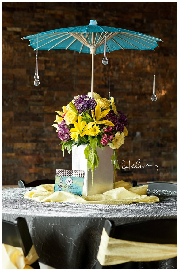 """Dancing in the Rain"" Wedding Theme. True Atelier Photography"