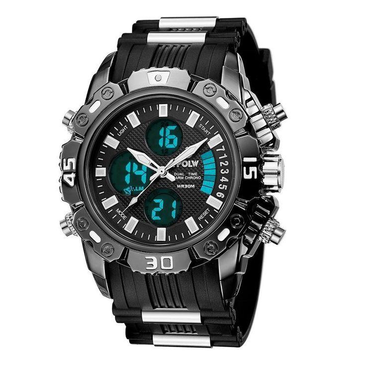 Mens Analog Sports Man Watch Waterproof Military Wrist Digital Watches Black New | Jewelry & Watches, Watches, Parts & Accessories, Wristwatches | eBay!