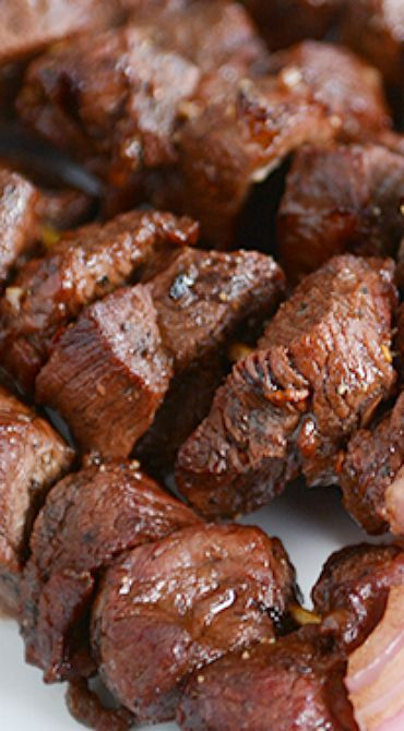 Balsamic Beef (or Chicken) Kebabs
