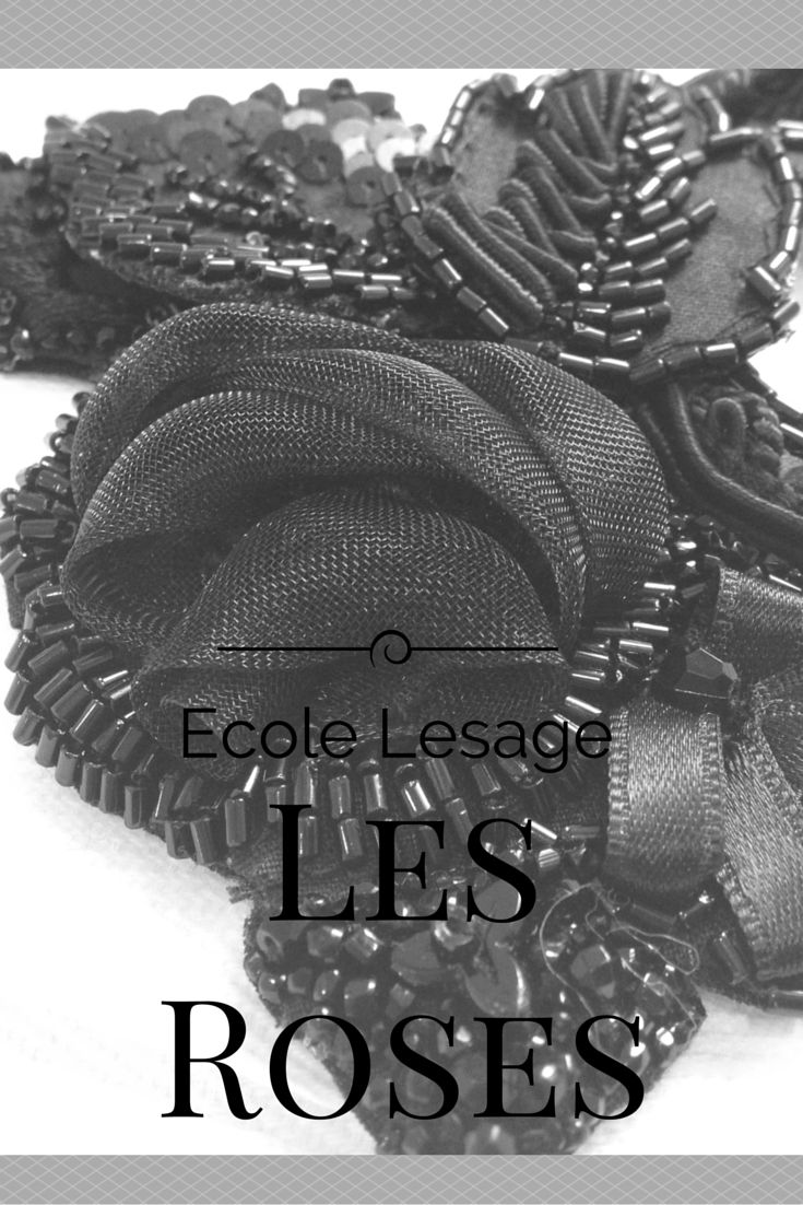 Level 4 of Haute Couture embroidery at Lesage in black by Saskia ter Welle Colour | Style | Design http://www.broderiedart.eu/zwart-borduurwerk-een-klassieker/
