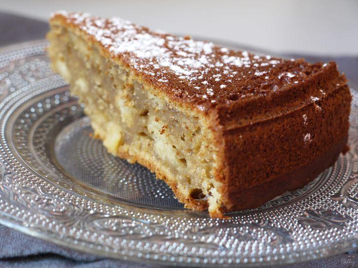 Gâteau au St Morêt, pommes & prunes