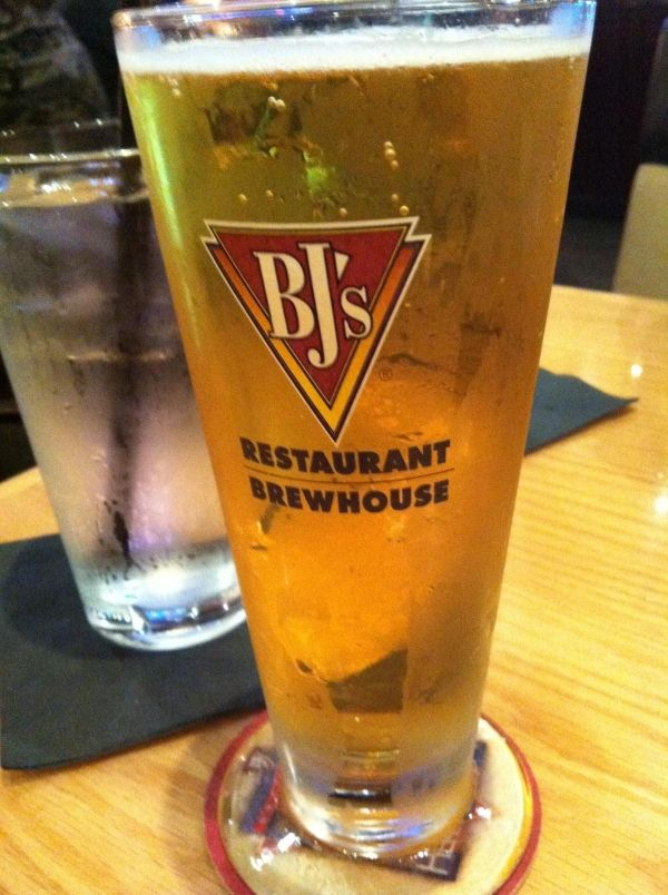Bj's Brewhouse BlondeLight pale beer in the style of a German Kolsch.