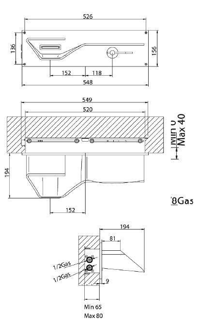 Bandini Arya Смеситель для раковины настенный скрытый монтаж с полкой - Bandini <- Современные формы <- Смесители <- Сантехника - Каталог | Сантехника , керамическая плитка ,поставщик .