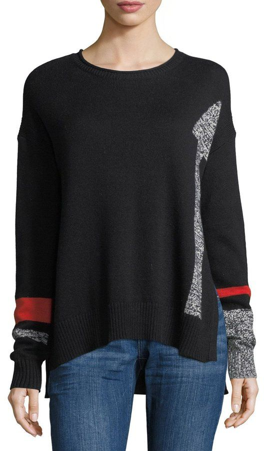 Lisa Todd Ups and Downs Arrows Sweater