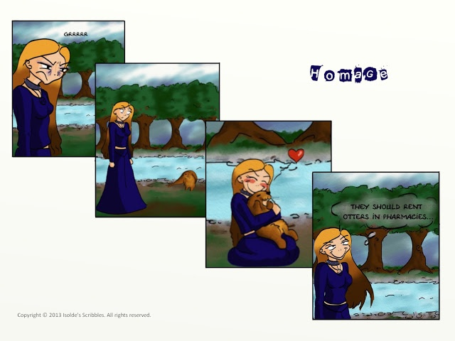 Isolde's Scribbles | Lise Sweden (english translation) |  Tribute to the comic Nemi by L. Myhre