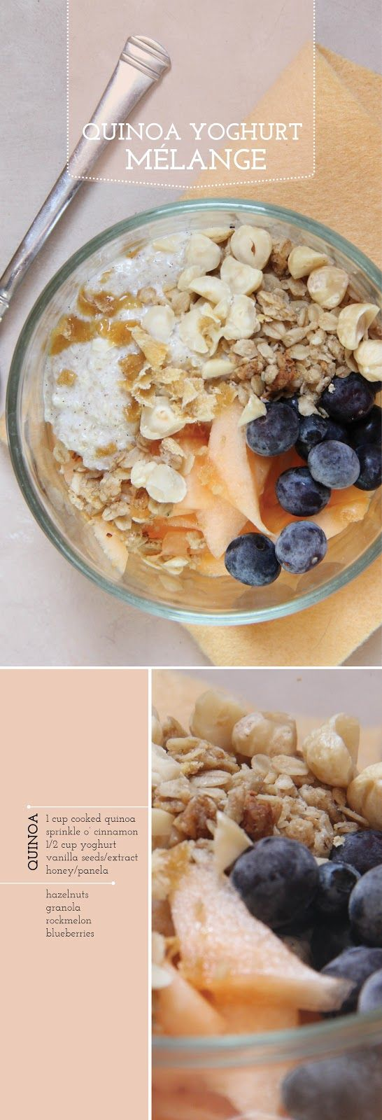 Quinoa Yogurt Parfait! Eat this in the morning and it will provide you with a ton of energy for the rest of the day! | bona food