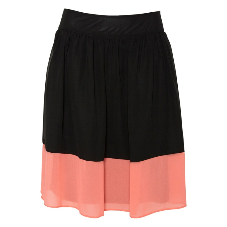Chiffon Two Tone Drindle Skirt