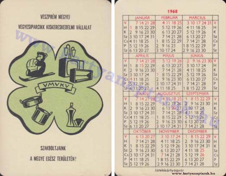 1968 - 1968_0220 - Régi magyar kártyanaptárak