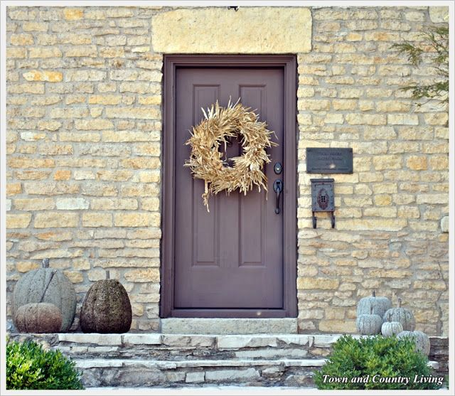Flirtatious Front Doors - Entrance to historic home in Geneva, Illinois via Town & Country Living