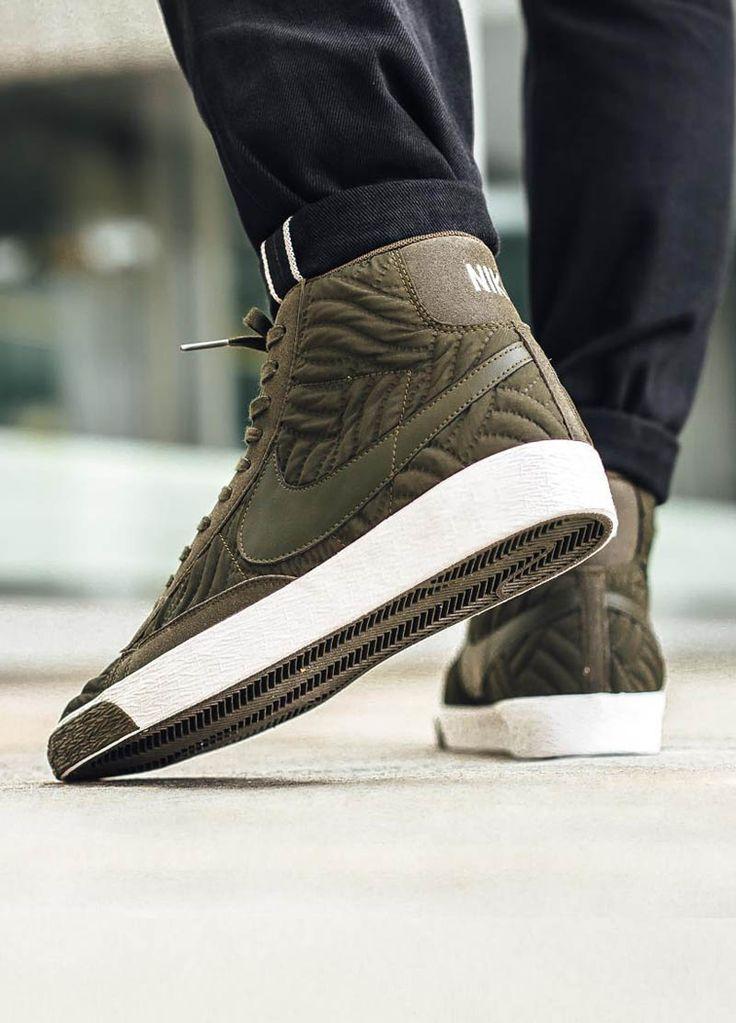 Nike Blazer Mi Prime En Cuir Matelassée Étage