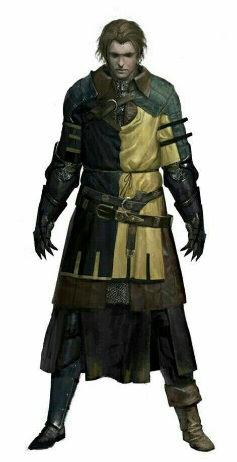 Human Male Fighter - Pathfinder PFRPG DND D&D d20 fantasy