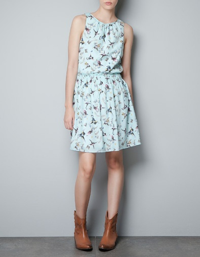 BIRDS DRESS - Dresses - TRF - New collection - ZARA United States