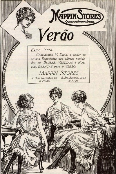 Anúncio antigo da loja Mappin - 1918                                                                                                                                                                                 Mais