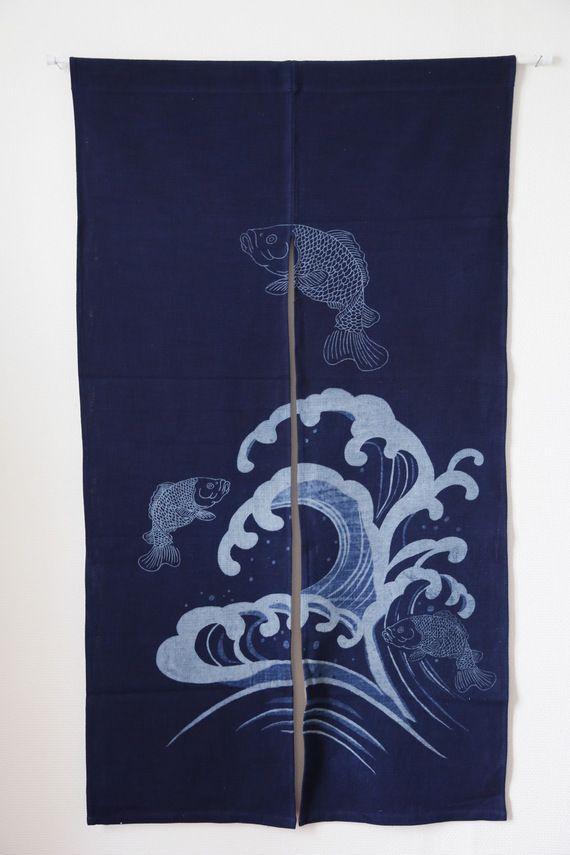 ❤ Le noren- Rideaux japonais Poisson