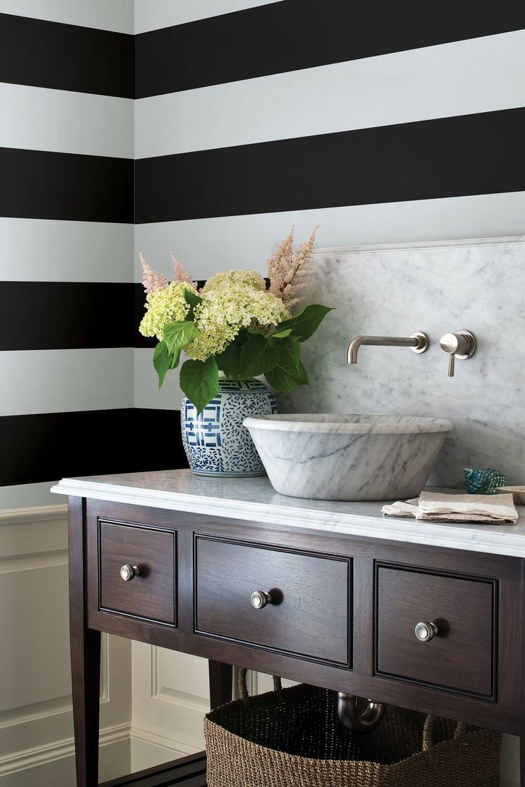 Bathroom Design Ideas With Stripes ~ Best images about horizontal stripe wallpaper on pinterest