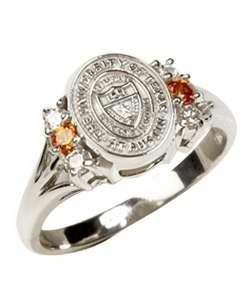 White Gold University of Texas Seal ring...