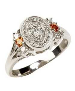 White Gold University of Texas Seal ring...