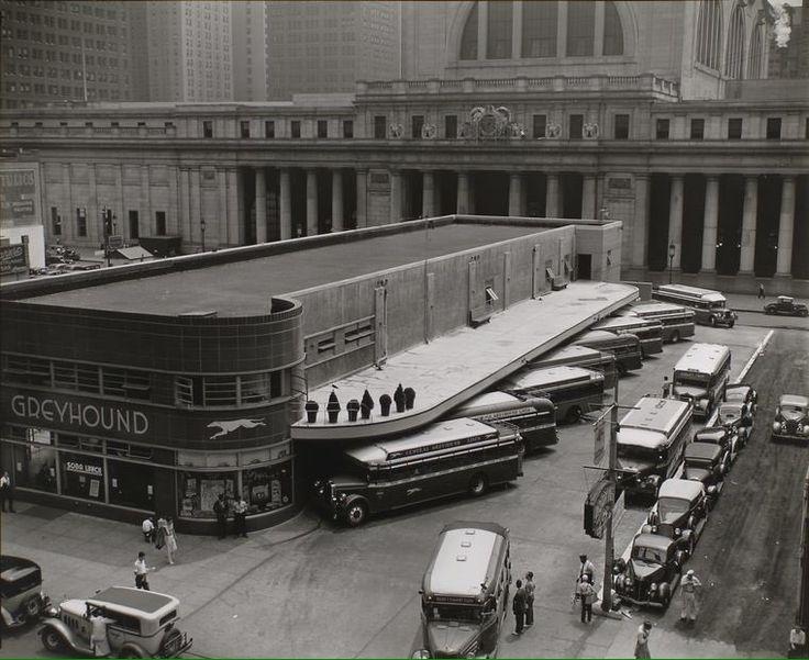 Greyhound Bus Terminal near original Penn Station NYC. Berenice Abbott. 1936…