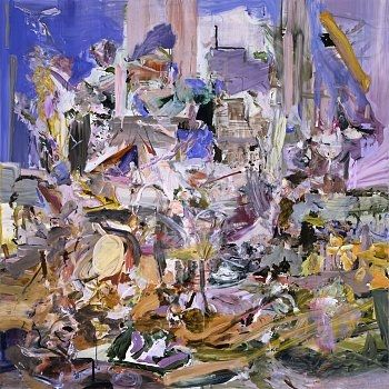 CECILY BROWN  The Adoration of the Lamb, 2006  Oil on linen  78 x 78 inches (198.1 x 198.1 cm)