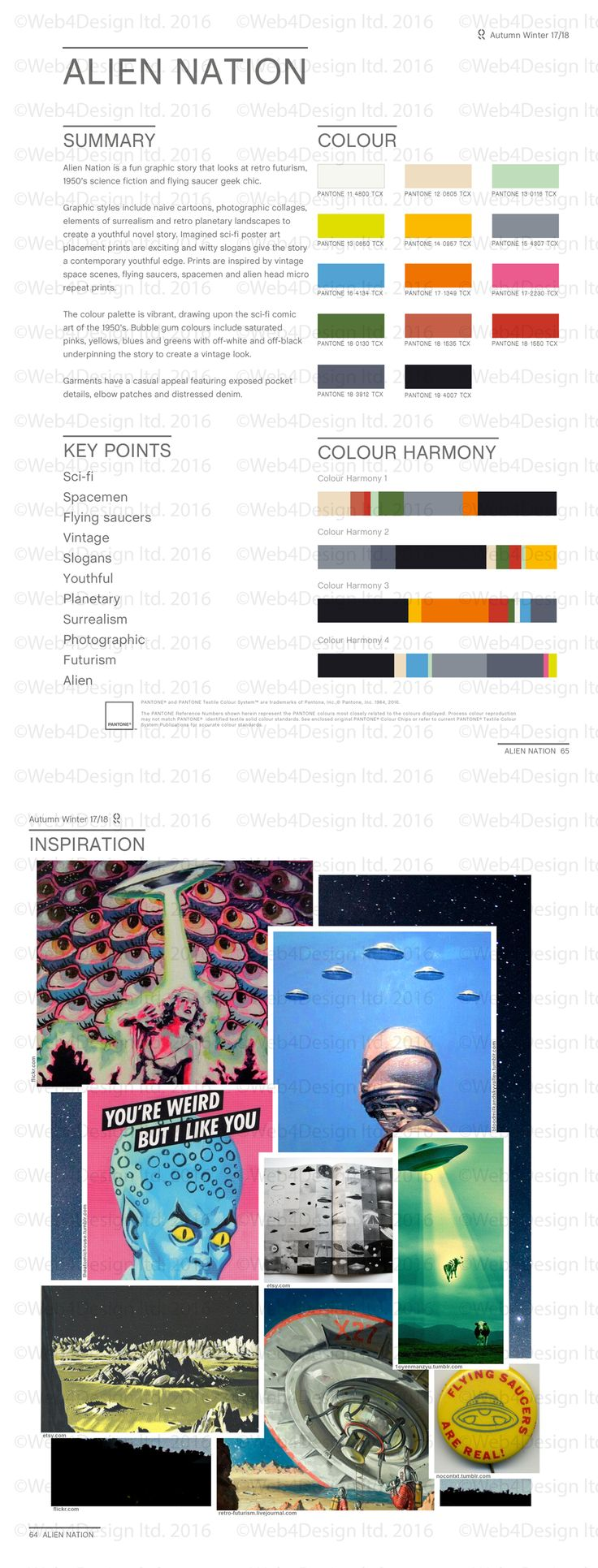 Style Right Alien Nation AW1718 Trend Board