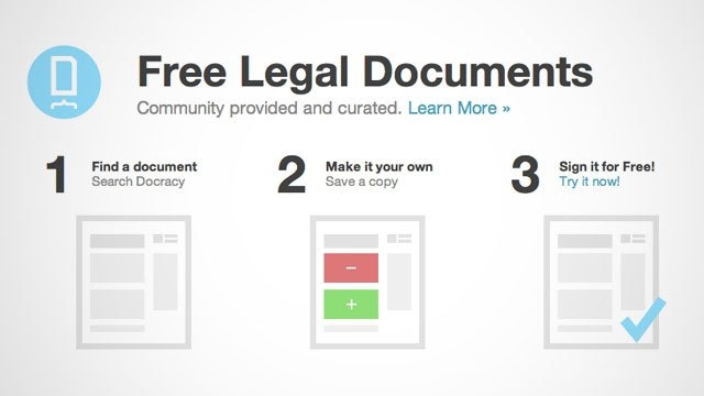 Docracy is a free web service that not only provides legal documents for anything from a non-disclosure agreement to an apartment lease (and more), but it also lets you sign the documents as well. It's expensive to hire a lawyer when you need a legal document drafted, but you don't want to craft an agreement that won't hold up. While an actual lawyer will almost always be a better option than modifying an existing legal document from a database, if you're on a budget or just ne... {lifehacker}