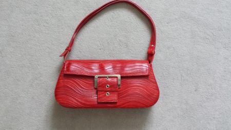 Tas rood Italiaanse tas rood leder