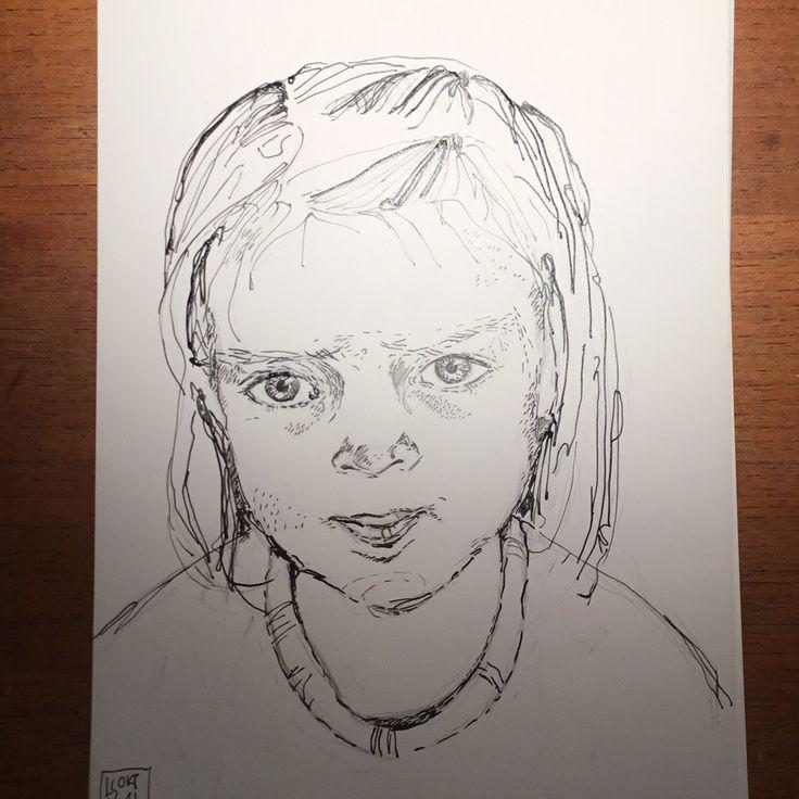 #Inktober 9. Okt 'barnesjæl' Louise Steffensen
