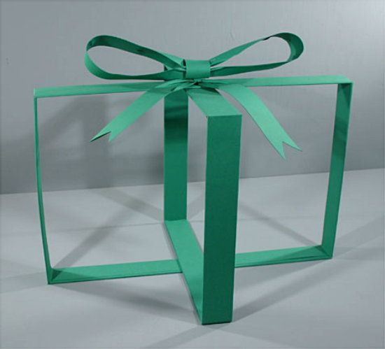 Put merchandise inside to show as a present