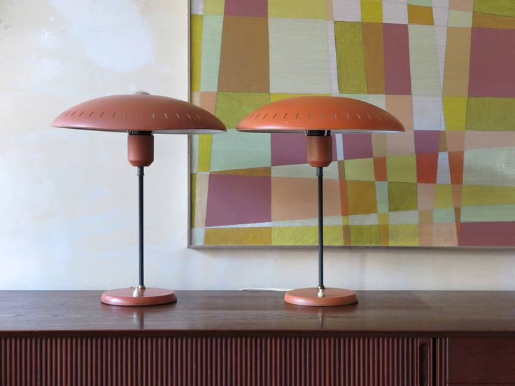 Couple of table lamps designed by Louis Kalff for Philips, Netherlands1960 - Coppia Lampade da tavolo disegnata da Louis Christiaan Kalff per Philips - www.capperidicasa.com
