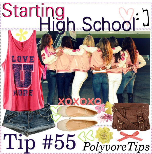 """Starting High School: Tip #55 "" by polyvoretips ❤ liked on Polyvore-I just love this"