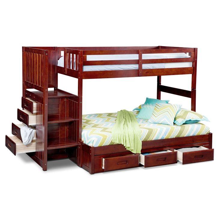 High Quality Kids Furniture   Ranger Merlot Twin/Full Bunk Bed With Stairs And 7 Drawer  · Etagenbetten Mit TreppeHochbettenLagerung ... Nice Ideas