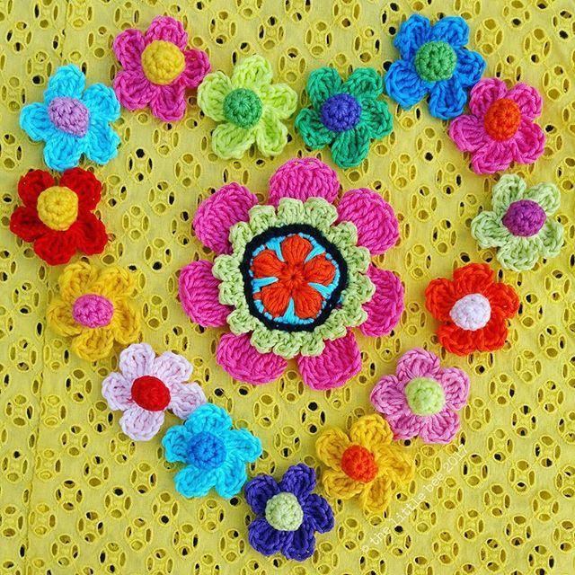 Crochet Flowers #aflowerforjenny