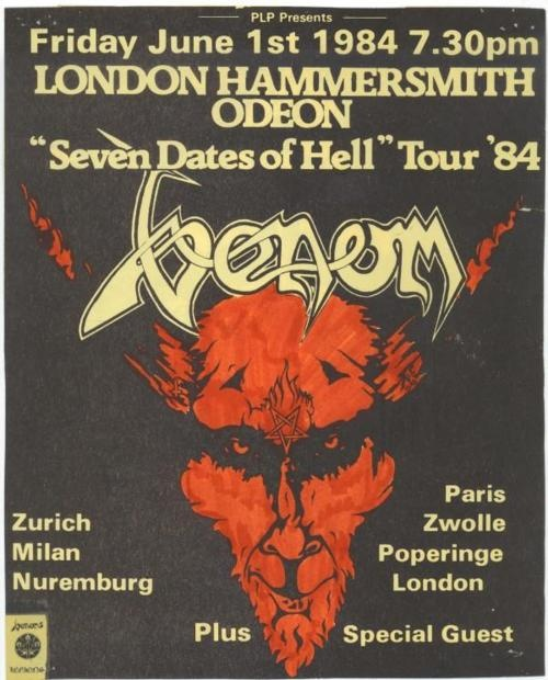 Venom.... Old school black metal. Founding fathers