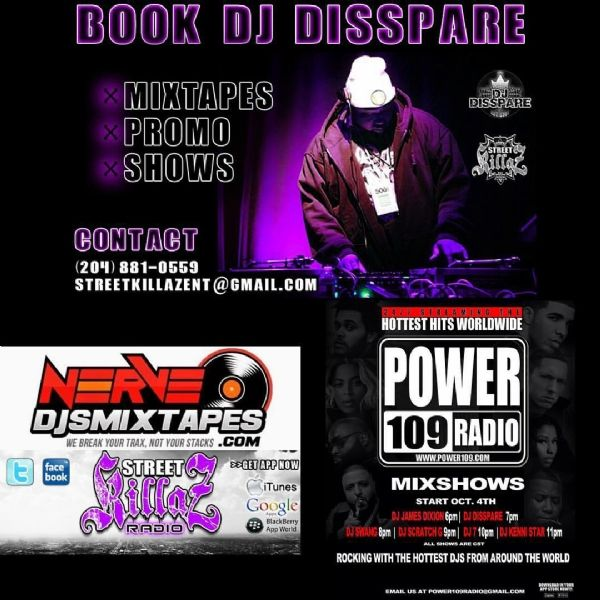 DJ DISSPARE is back every week with new online radio Mix's & and Mixtapes !!!!! Check me out @nervedjs Radio http://www.nervedjsmixtapes.com/NerveDjsRadio.htm f