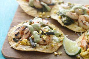 Grilled Shrimp Tostadas #kraftrecipes