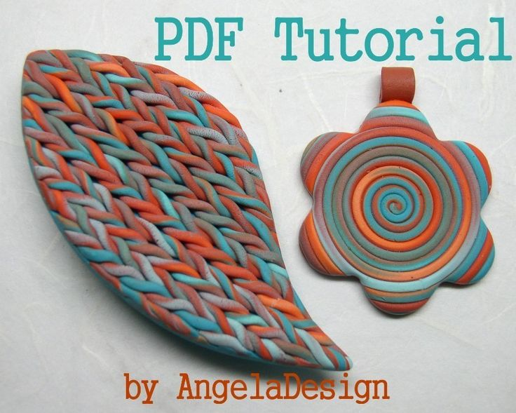eBook - Polymer Clay Faux Knitted Pattern Tutorial - pdf tutorial for #cernit #polymer clay