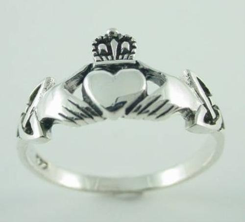 New Sterling Silver Claddagh Celtic Ring - Size 7: Ring Sizes, Celtic Rings, Rings Size