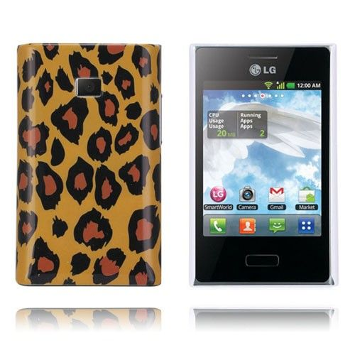 Leopard (Brun) LG Optimus L3 Cover