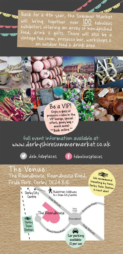 The Handpicked Summer Food & Gift Market The Roundhouse, Derby Over 100 fabulous exhibitors