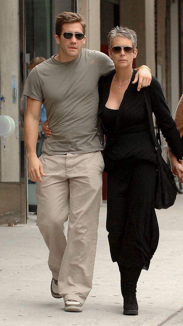 Jake Gyllenhaal with his Godmother Jamie Lee Curtis