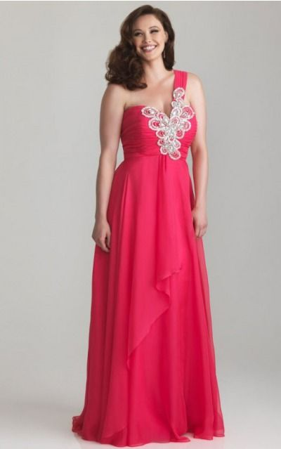 One Shoulder Floor-length Chiffon Dropped Zipper Evening Dresses gt0450