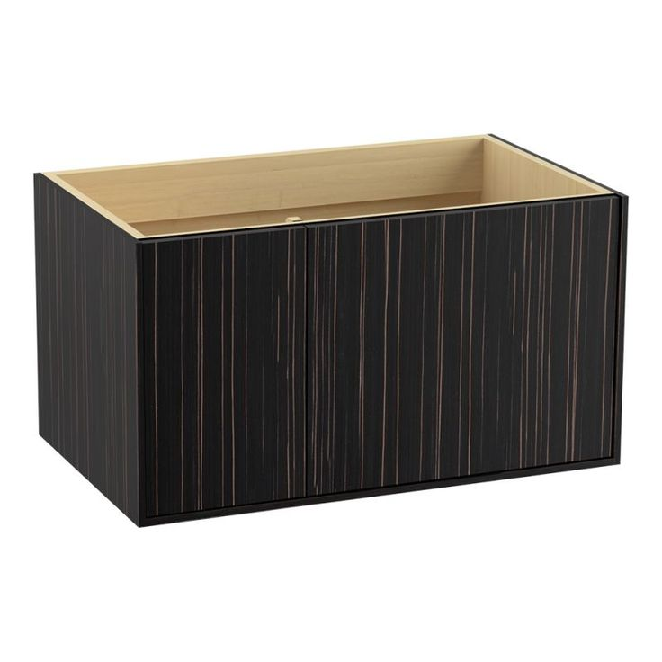 "Kohler K-99543-L Jute 36"" Vanity Cabinet Only - Wall Mounted Installation Type Ebony Velour Fixture Vanity Single"
