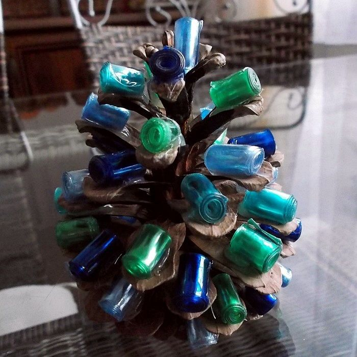 Vánoční tvoření s dětmi - PETšiškostromeček | Moje mozkovna