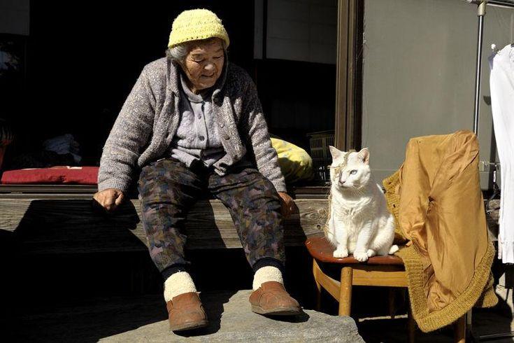 Miyoko Ihara has been taking photographs of her grandmother, Misao and her beloved cat Fukumaru since their relationship began in 2003. Their closeness has been captured through a series of lovely photographs. 11-21-12 / Miyoko Ihara