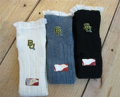 Boot sock with embroidered #Baylor logo