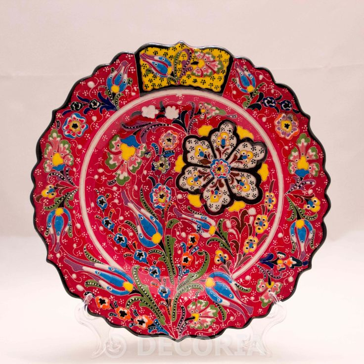Large Plate - Red - DECORIA HOME & GIFT
