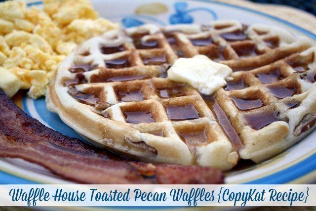 Waffle House Toasted Pecan Waffles {CopyKat Recipe} #breakfast #waffles #pecans #copykat