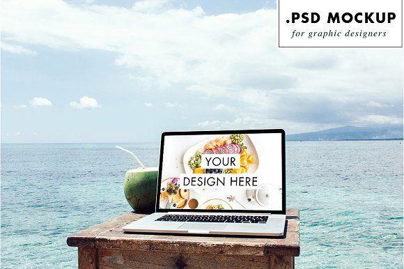 Download Sea Website Mockup For Freelance Website Mockup Website Mockup Psd Mockup