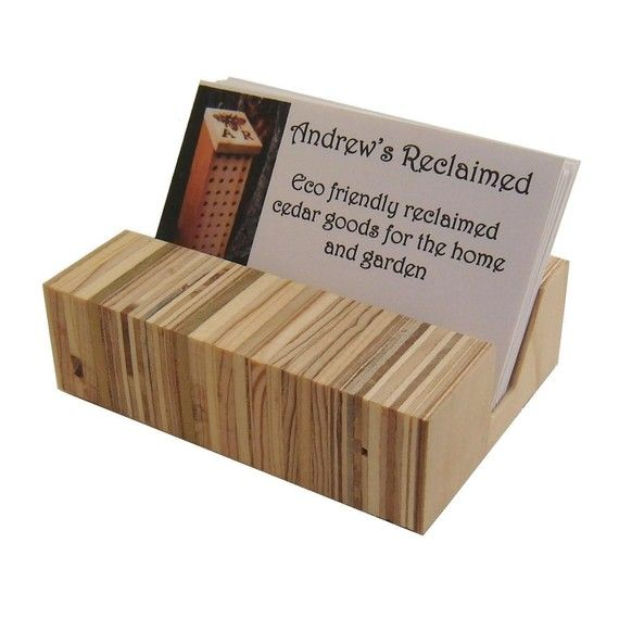10 best project business card holder images on pinterest retro eames era inspired minimalist wood business card holder colourmoves Images