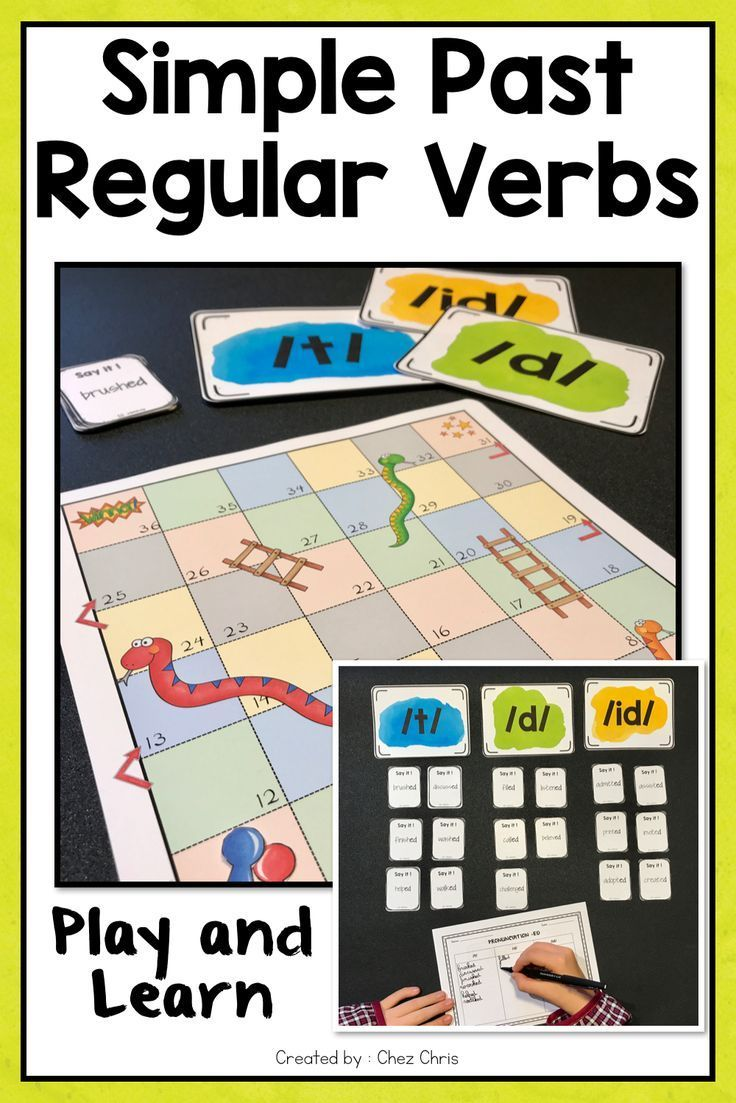 T D Or Id Revising Or Learning How To Pronounce Regular Verbs Is Pretty Easy With This Game Regular Verbs English Language Arts Activities Verbs Activities [ 1103 x 736 Pixel ]
